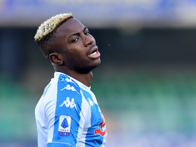 Victor Osimhen of Napoli reacts on January 24, 2021