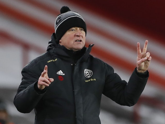 Sheffield United coach Chris Wilder, photographed on February 7, 2021