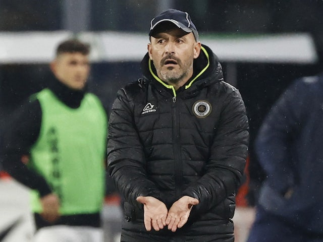 Spezia manager Vincenzo Italiano, pictured in January 2021