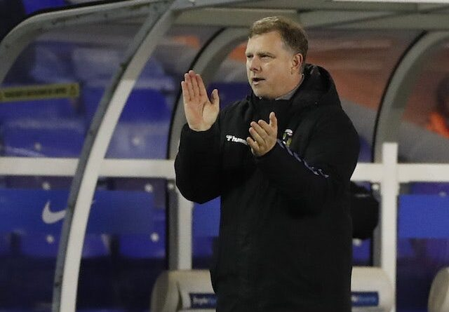 Mark Robins, gerente do Coventry City, fotografado em novembro de 2020